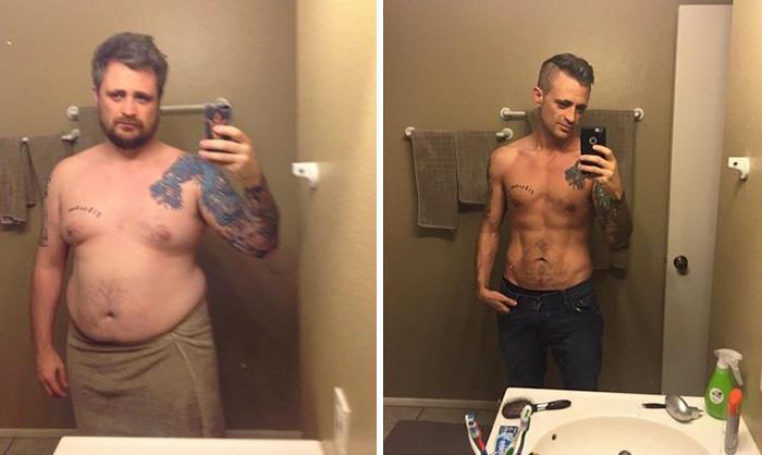 3. Он сбросил 49 кг всего за год.
