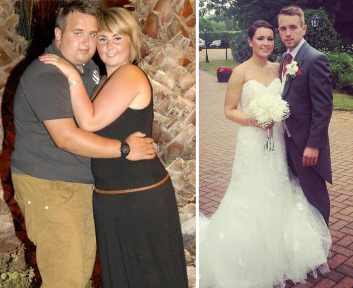 4. Еще одна пара, которая серьезно подготовилась к свадьбе. Вместе они сбросили 60 кг и теперь выглядят просто потрясающе.