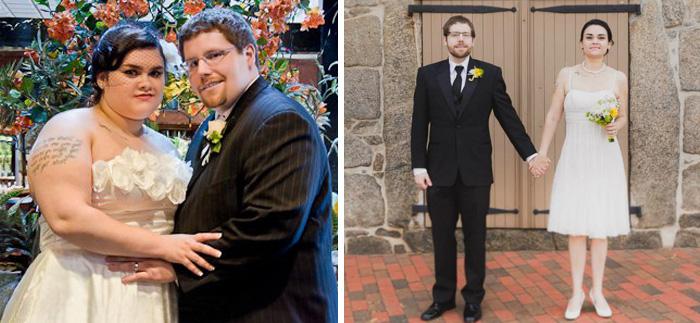 6. И снова счастливая пара, которой удалось похудеть – на этот раз к четвертой годовщине свадьбы. За полтора года усердного труда муж сбросил почти 59 кг, а жена – около 50 кг.