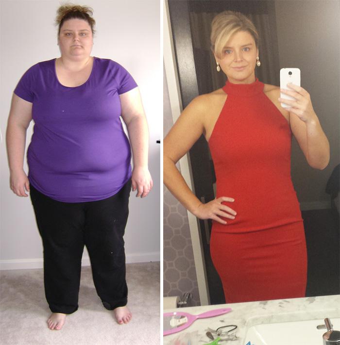 8. Если сбросить 115 кг, то можно позволить себе роскошное платье, подчеркивающее фигуру.