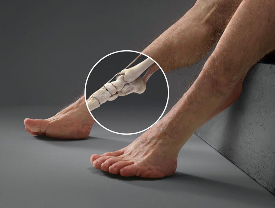13. Сильные, копытообразные ноги с дополнительными суставами отлично пружинят и защитят пешеходов при столкновении.