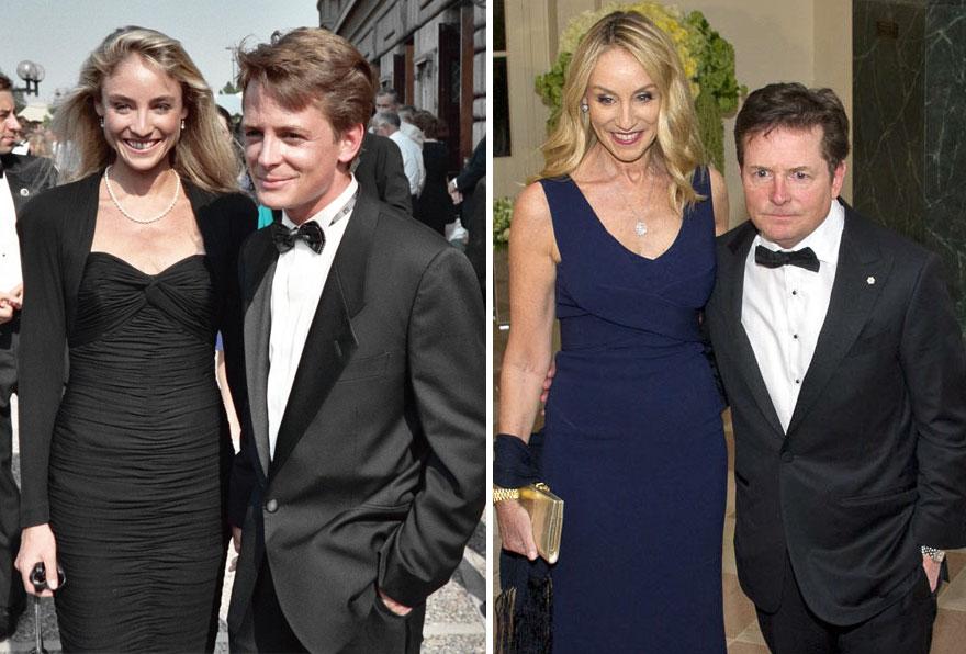 7. Майкл Джей Фокс и Трейси Поллан - 28 лет вместе.