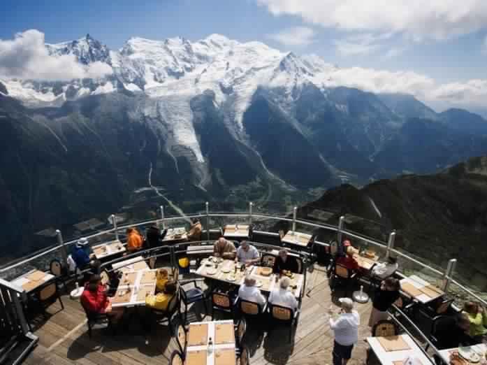 15. Ресторан Le Panoramic, Шамони, Франция.