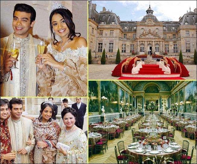 2. Ваниша Миттал и Амит Бхатиа ($ 78 млн). Возможно вы не знаете этих имен. Британские бизнесмены индийского происхождения, успешные банкиры и серебряные финалисты списка среди самых дорогих свадеб.