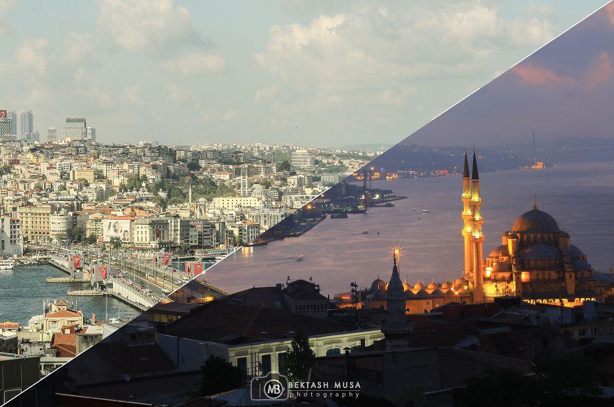 1. Вид на Стамбул.