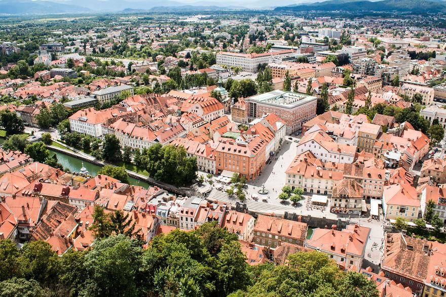 22. Любляна, самый зеленый город Европы.