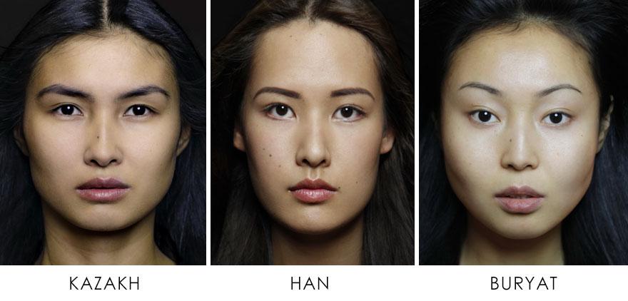 6. Казахи, Хань (этническая группа сино тибетской языковой семьи), Буряты.