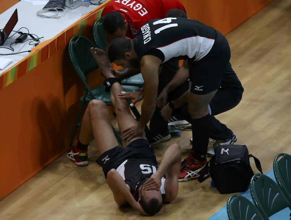 10. Египетский волейболист Ахмед Эль Котб.