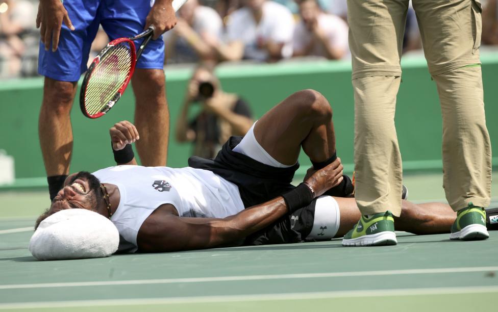 8. Теннисист Дастин Браун свернул свою лодыжку в матче первого круга по теннису.