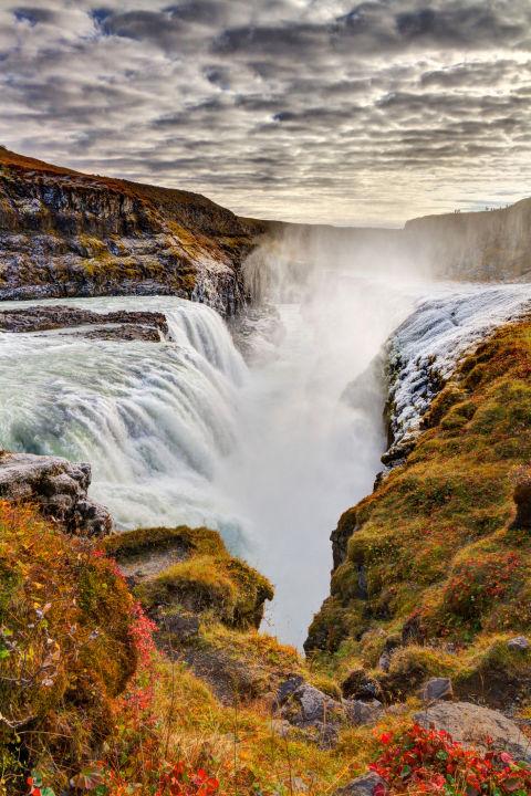 3. Водопад Гюдльфосс.