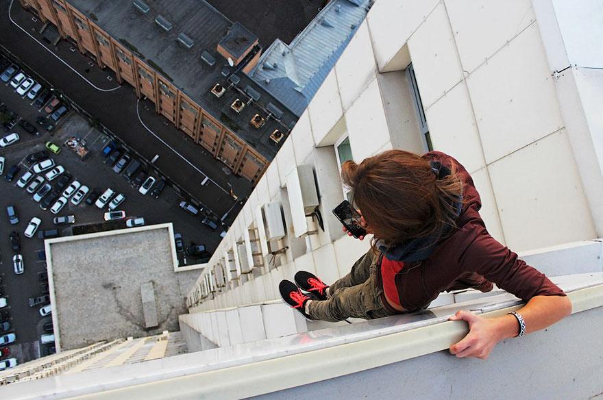 10. Девиз Ангелины — «No limits, no control». На счету девушки – самые высокие здания Испании, Китая и Франции.