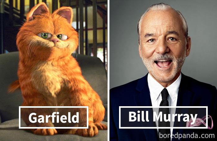 11. «Гарфилд»: Гарфилд – Билл Мюррей.