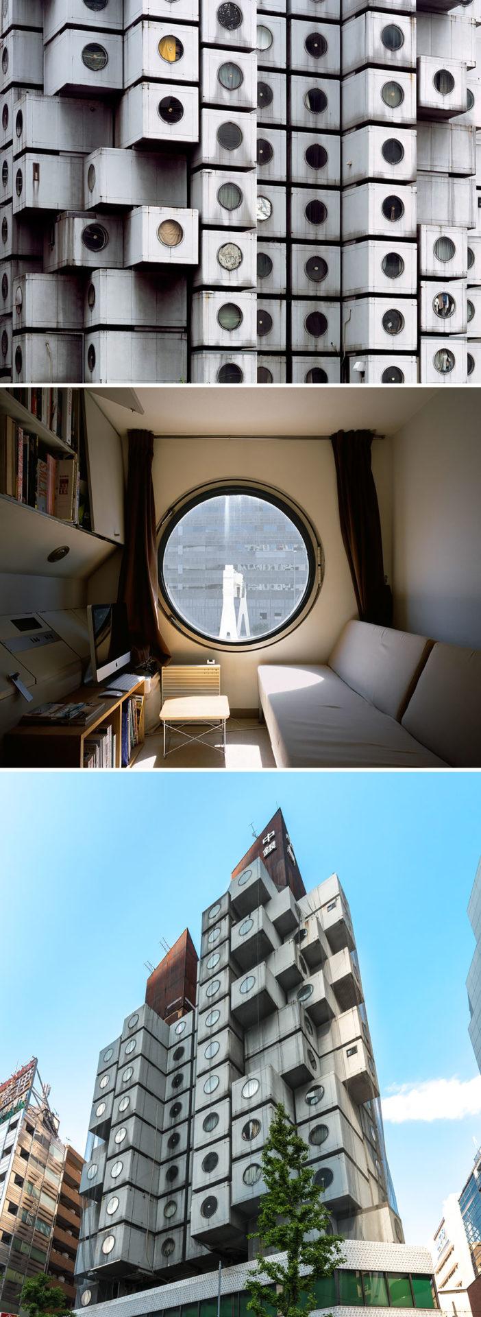 7. Капсульная башня Nakagin в Токио.