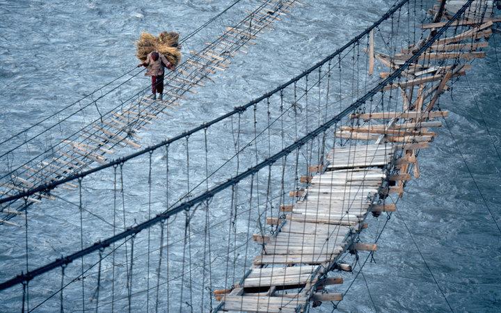 5. Мост Хуссаини, Пакистан.
