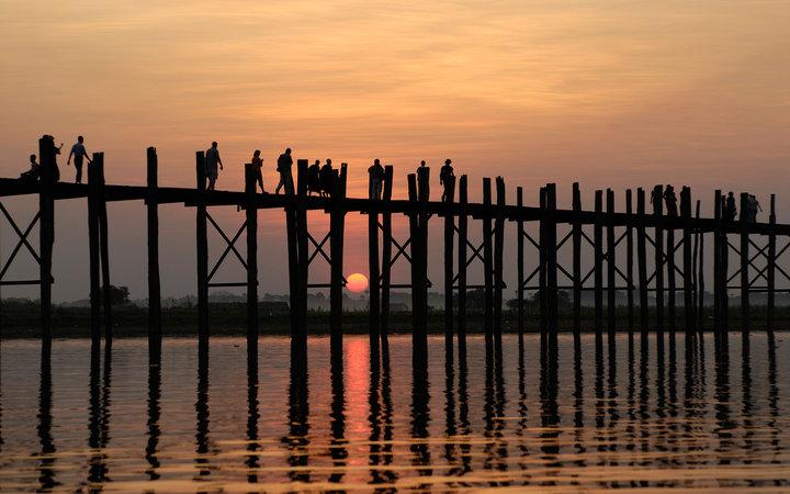 6. Мост Убэйн, Мьянма.