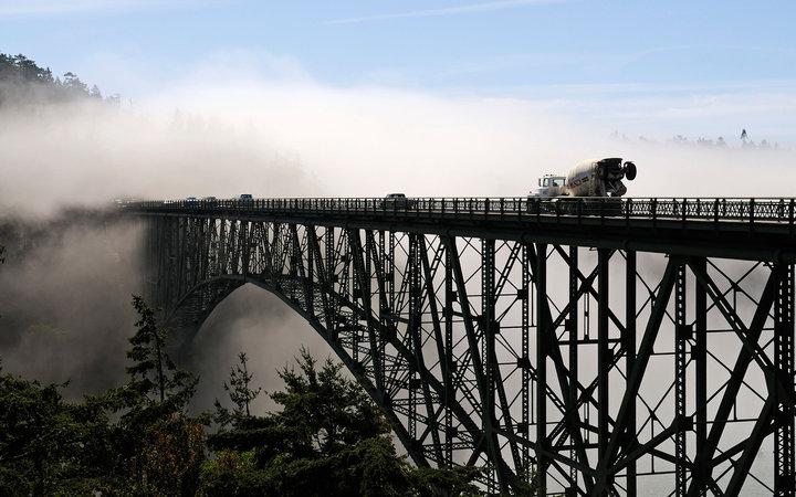 7. Мост Deception Pass, Вашингтон, США.