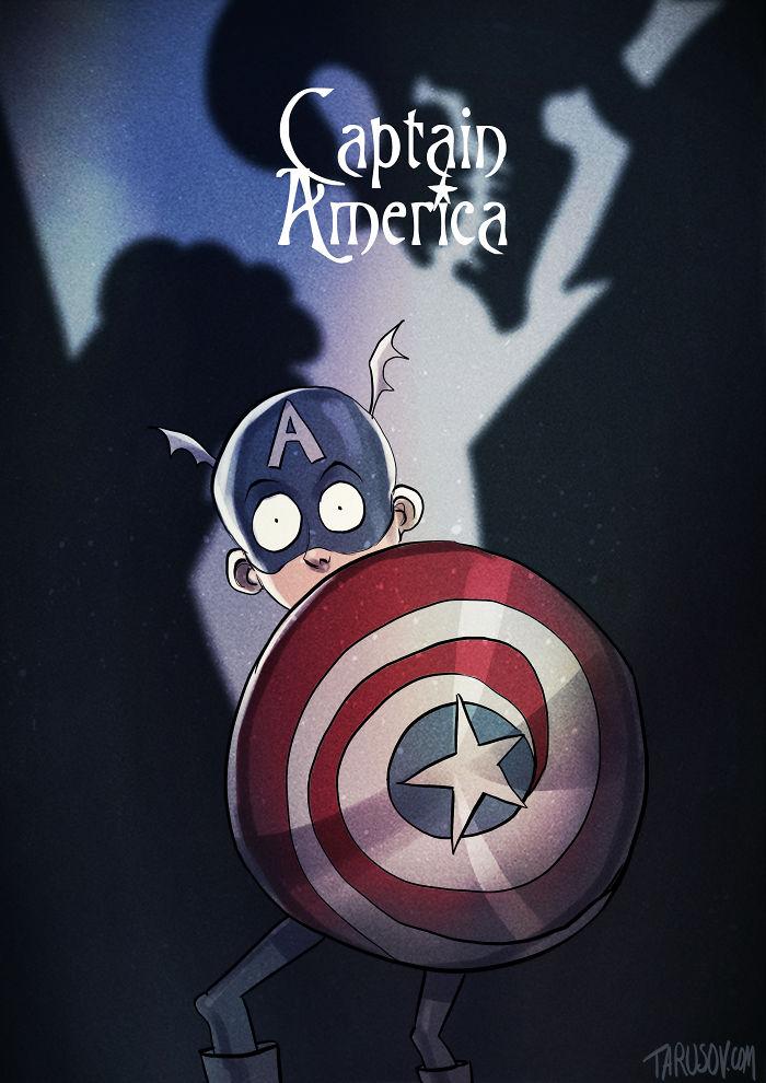 10. Капитан Америка.