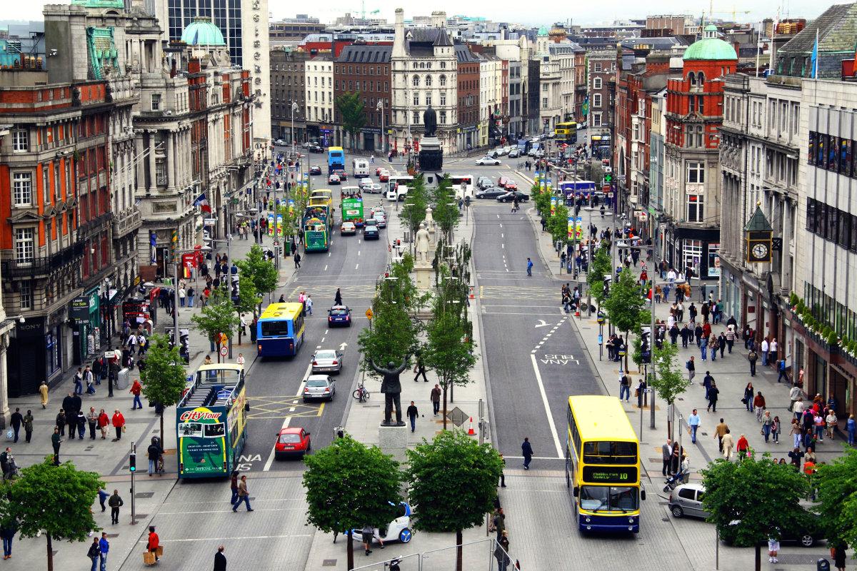10. О'Коннелл – стрит является главной улицей Дублина. Именно на ней проходили все протесты, демонстрации и торжества.