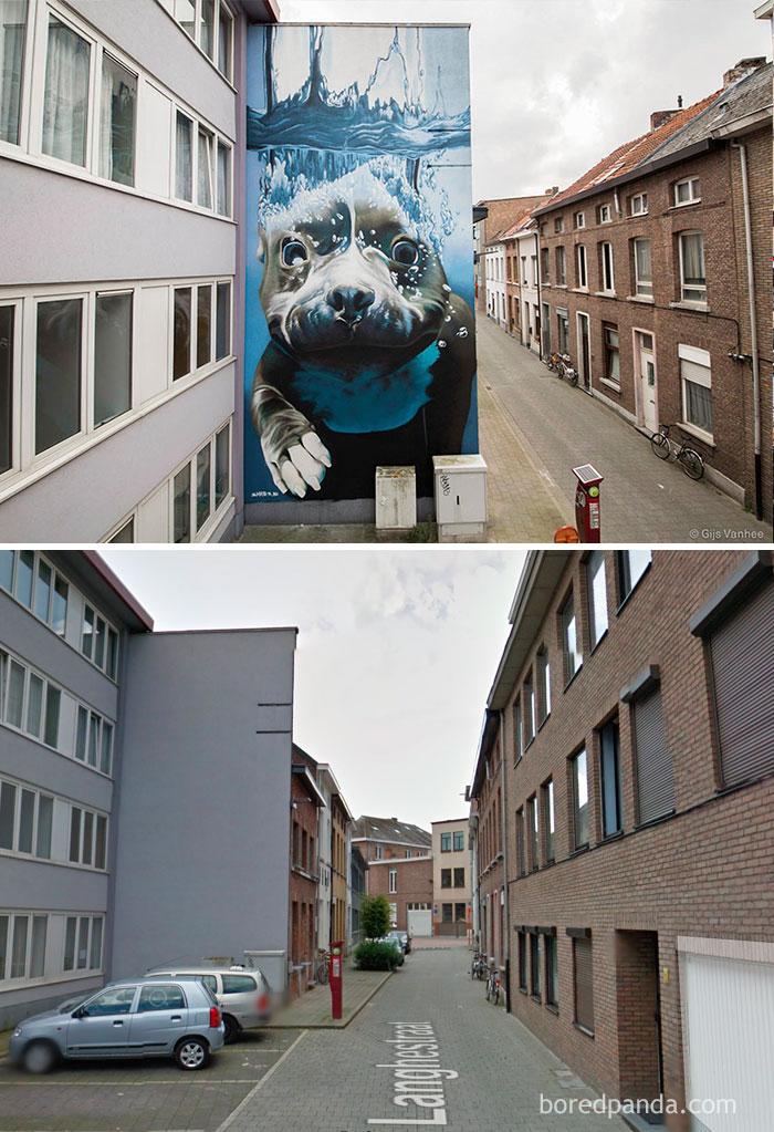 9. Плывущая собака, Мехелен, Бельгия.