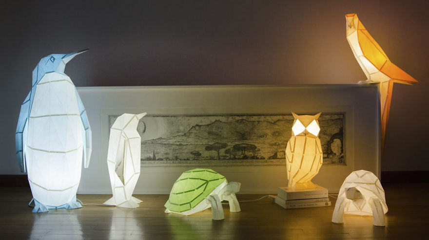 7. Полная коллекция оригами-ламп.