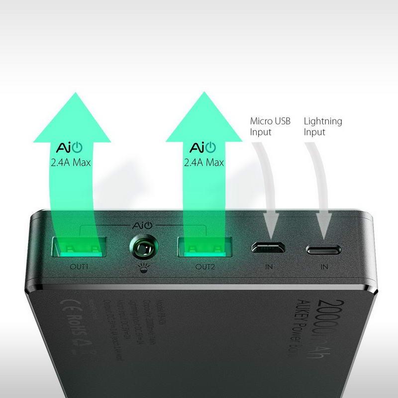 8. Портативный аккумулятор AUKEY PB-N36.