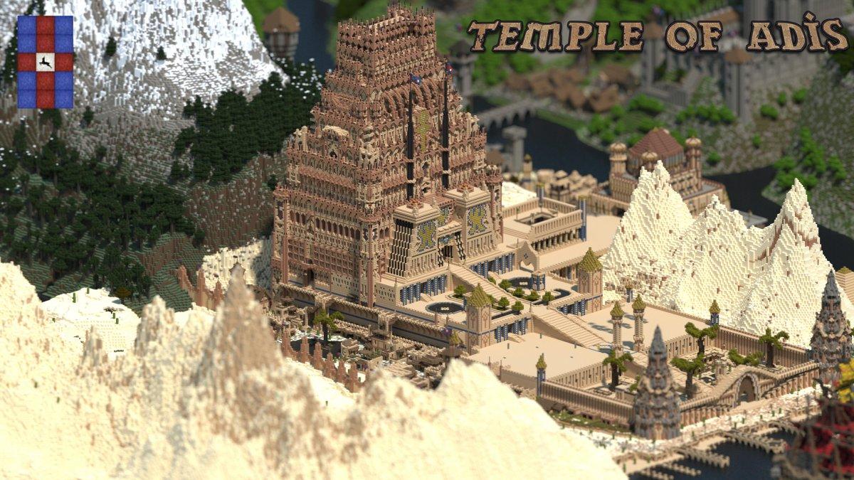 1. Вместо воссоздания известного здания или даже города, королевство Galekin является уникальным миром.
