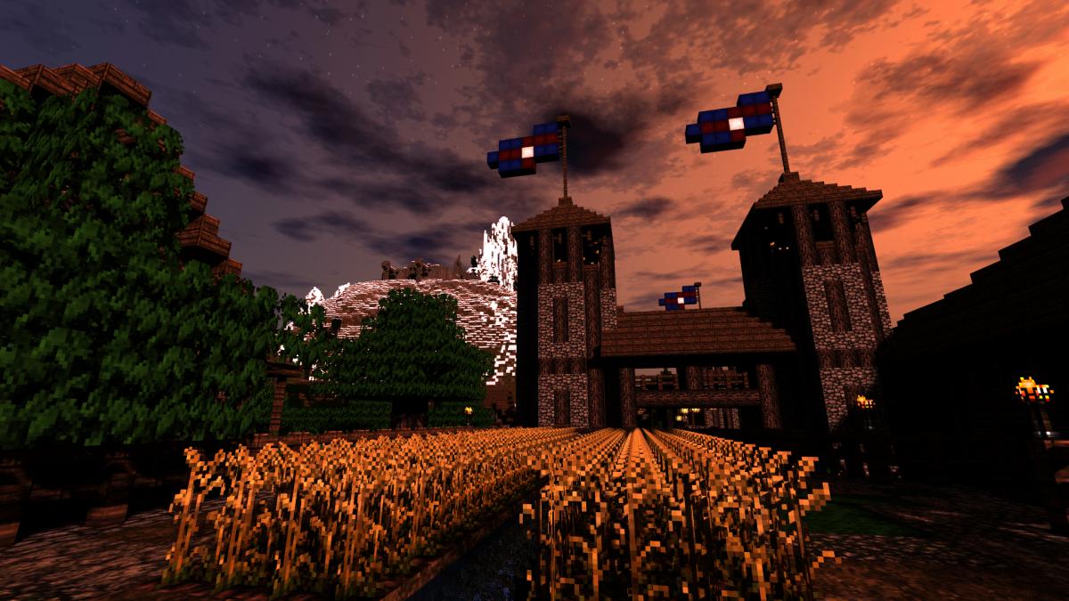 12. Флаги на флагштоках башен.