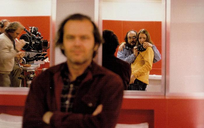 1. Стэнли Кубрик и Джек Николсон на съемках «Сияние».