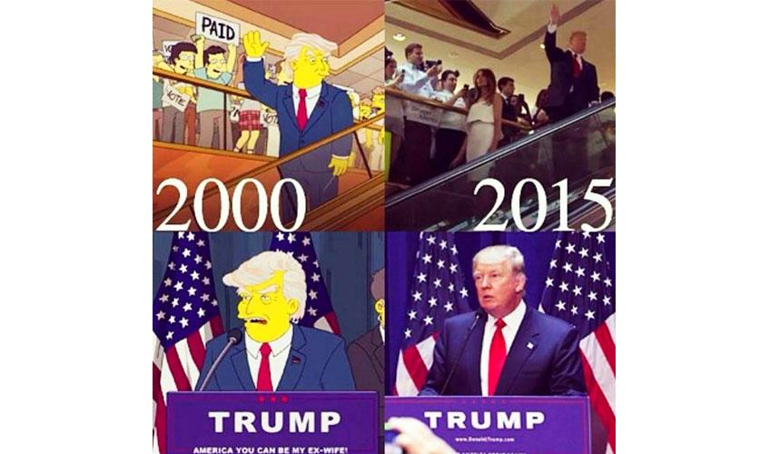 4. Дональд Трамп – президент. (Барт в будущем, 19 марта 2000).