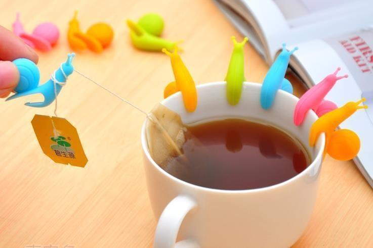 3. Держатель чайных пакетиков в виде улитки. Это не полезно, но так мило.