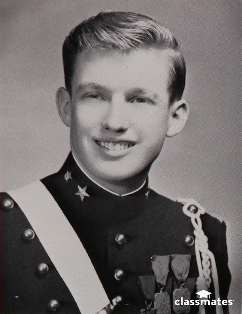 1. Дональд Трамп в военной академии.