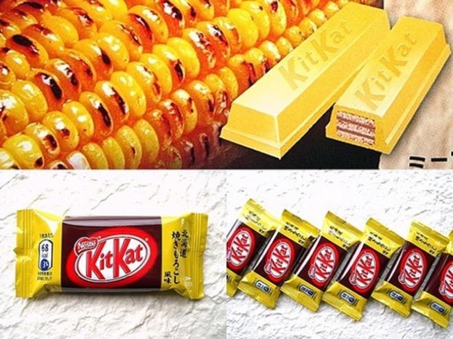 11 Япония. KitKat со вкусом жареной кукурузы.