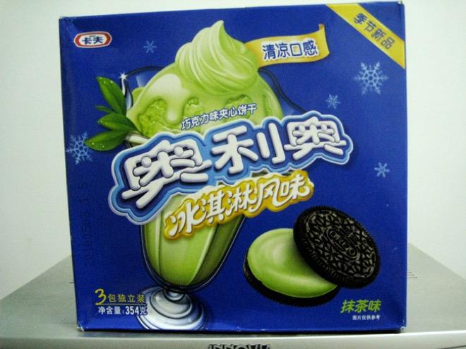 6. Китай. Печенье Oreo с зеленым чаем. Есть обязательно с зеленым чаем.