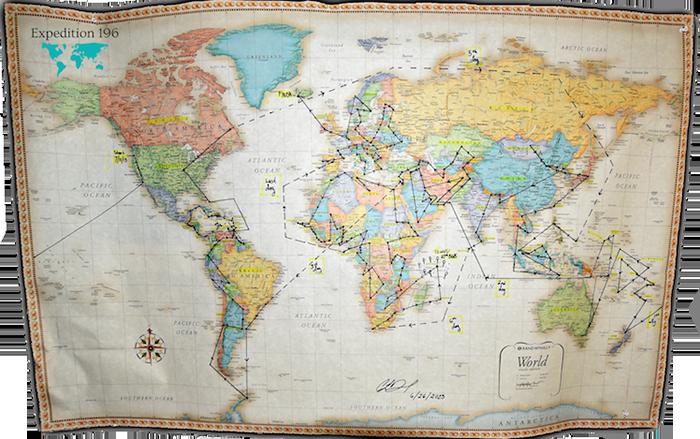 10. А это карта ее путешествий по всему миру.