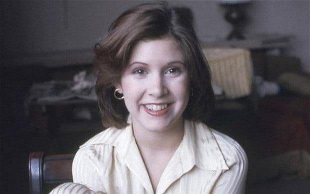11. Кэрри Фишер в возрасте 19 лет. Фото 1975 года.