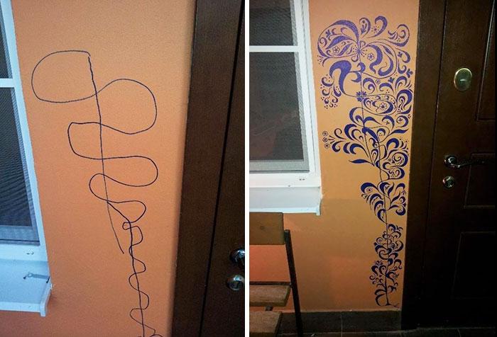 как можно украсить испорченные обои фото террасы балконом