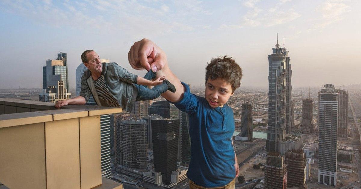 9. На крыше в Дубае.