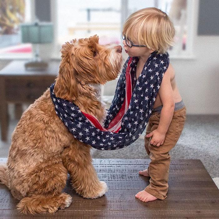 9. Бадди усыновили, когда ему было 11 месяцев, и он сразу же подружился с Рейганом.