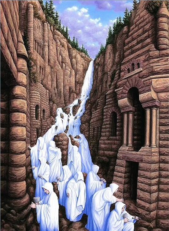 11. Родник в скале.