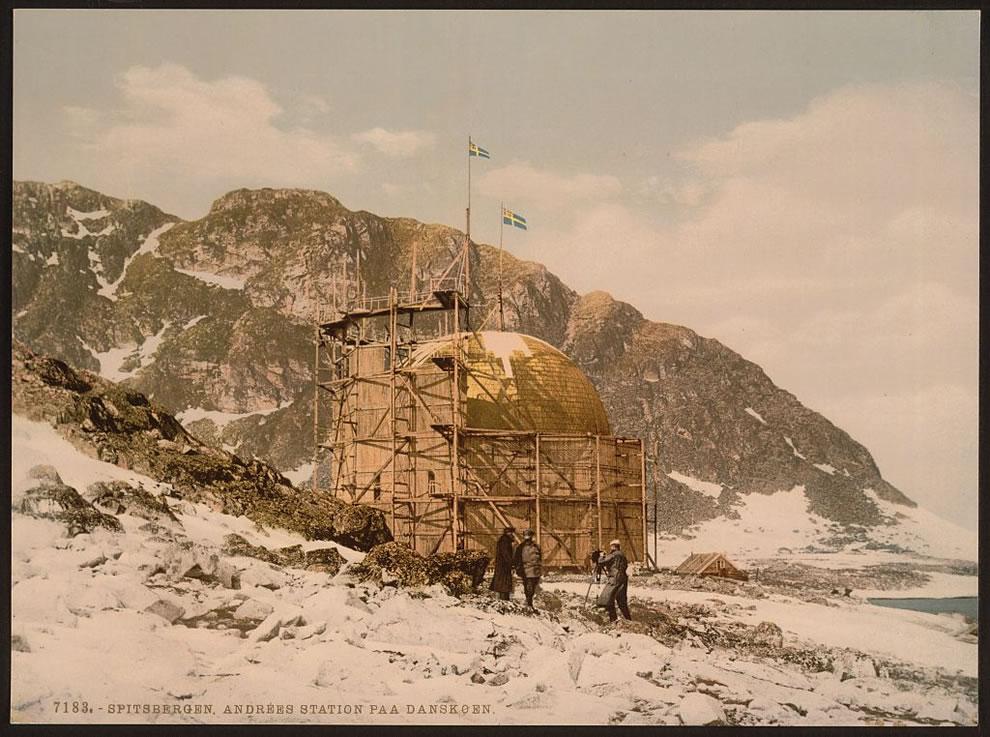 10. Станция ANDREE, Шпицберген, Норвегия. Раскрашенный фотоснимок сделанные примерно в 1890-1900 годах.