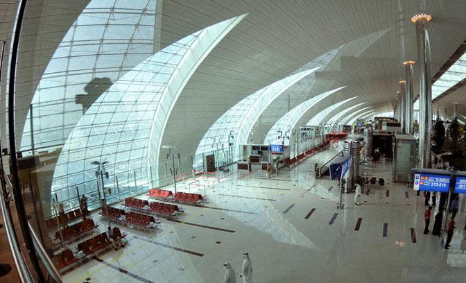 14. Самый большой терминал аэропорта: Терминал 3 (T3), аэропорт Dubai International, Объединенные Арабские Эмираты.