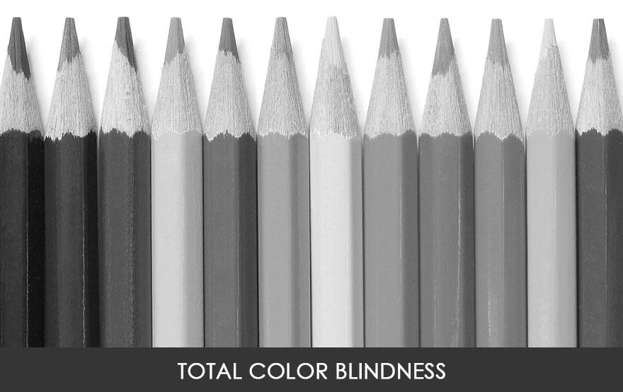 5. Общая цветовая слепота, или монохроматия, является редчайшей формой цветовой слепоты. Люди с монохроматией могут видеть только в черно-белом цвете. По оценкам монохроматией страдает лишь 0,00003% людей в мире.