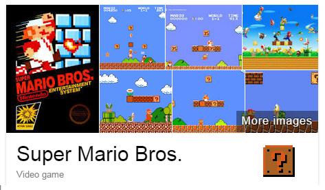 6. Напишите «Super Mario Bros» и нажмите на кубик с вопросом. Увидите, что будет.
