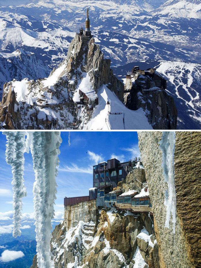 7. Эгюий-дю-Миди, французские Альпы.