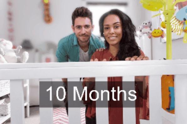 11. 10 месяцев. Ребенок видит достаточно четко.