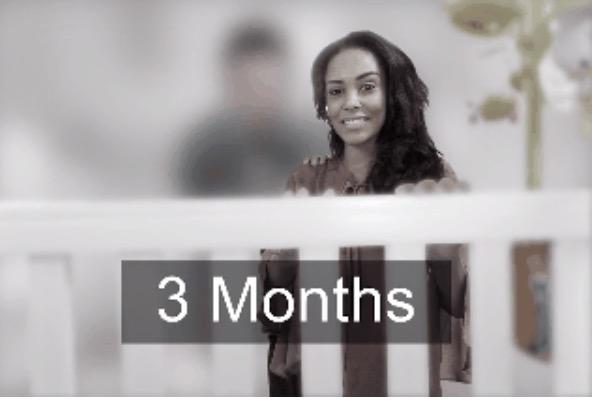 4. Как видите, лицо мамы в 3 месяца малыш видит достаточно четко.