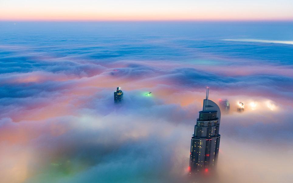 3. Центр Дубая на рассвете.