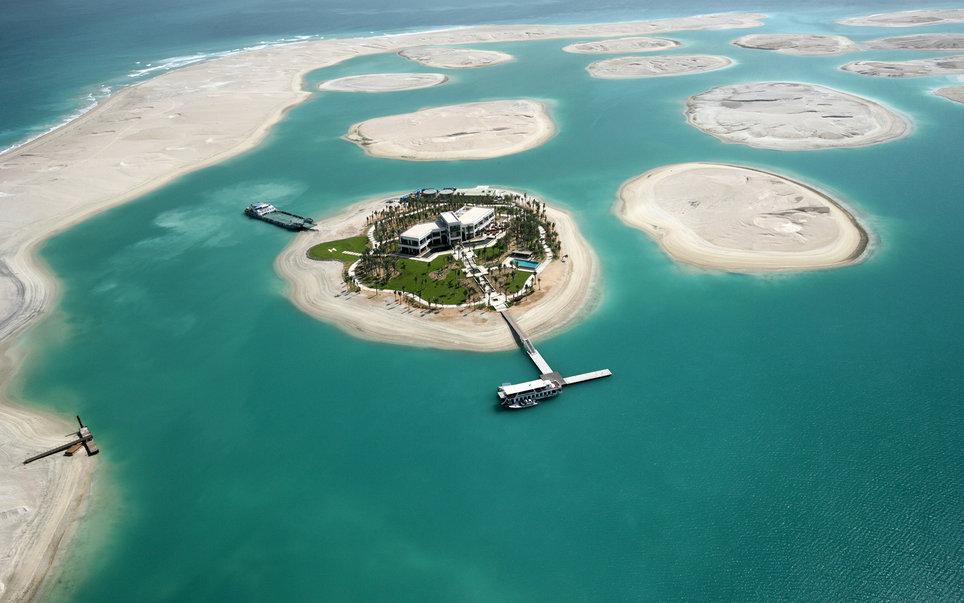 9. Вид сверху на Мировые острова.