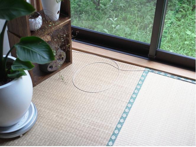 1. Все началось со скрученного в виде круга шнура на полу.