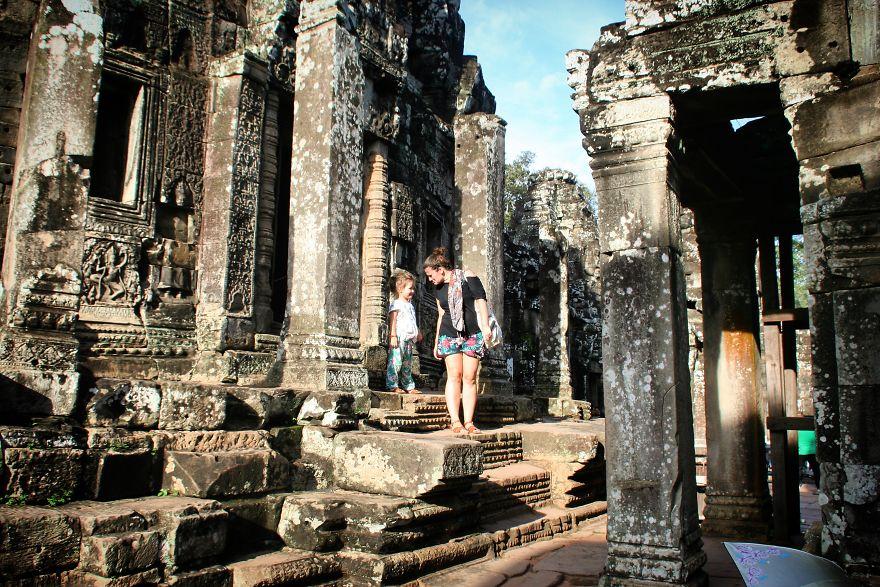 20. Храм Байон, Камбоджа.